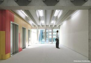 Groupe Cardinal - Akka Rocquencourt - Perspective Ascenseur© Dubuisson Architecture