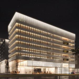 Groupe Cardinal -Lumen, la cité de la lumière - a+ samuel delmas architecte - Perspective Luxigon