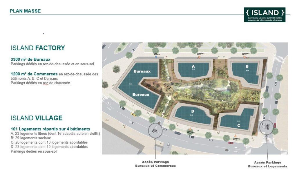 Groupe Cardinal - The Island - Jakob+MacFarlane et Portal Teissier Architecture plan masse