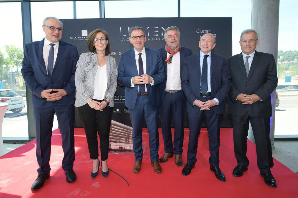 Philippe Badaroux, Anne Pellet, David Kimelfeld, Jean-Christophe Larose, Gérard Collomb, Emmanuel Imberton