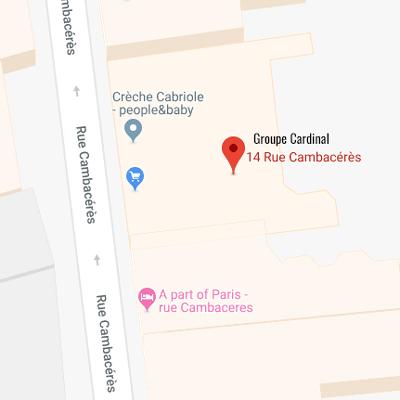 Groupe Cardinal - Acces siège Paris