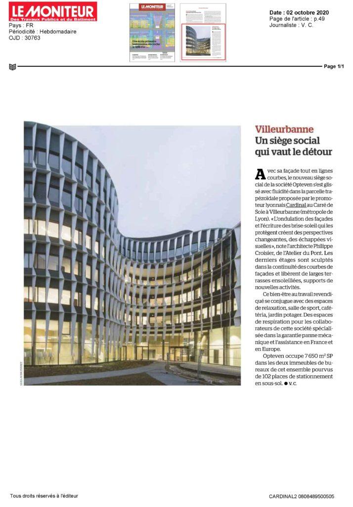 article Le Moniteur - Opteven