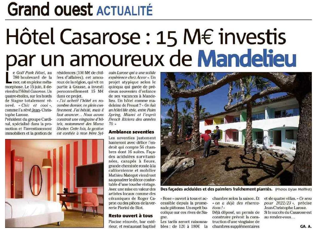 Groupe Cardinal - Article Casarose