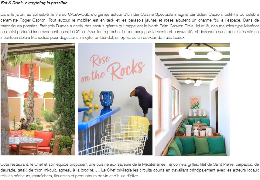 Article Casarose - attitude-luxe.com